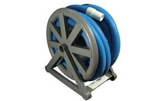 hose reel for pool vacuum hose