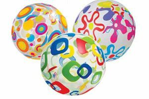 image of selection of inflatable balls