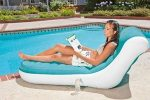 (intex 68880) Intex splash lounger with girl by poolside
