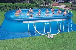 Intex oval pool 12ft x 20ft for Intex ovale