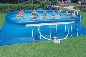 Intex oval pool 12ft x 20ft - Intex oval frame pool ...