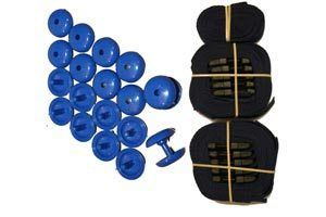 deluxe strap set for pool covers