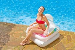 Intex folding lounge chair for swimming pools, closed