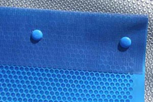 reinforced end for pool solar covers