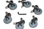 plastica slide n lock castors