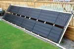 assembled solar panels for pool water