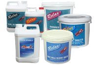Image showing assorted swimming pool chemicals