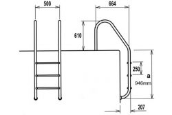 swimming pool ladder dimensions