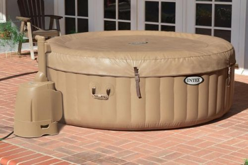 purespa bubble spa with cover on