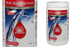 removes stains like iron, copper and tannins from swimming pools