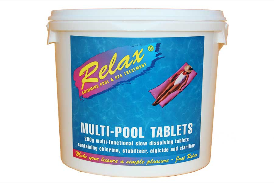 Multi function chlorine tablets for swimming pools 4x5kg - Chlorine calculator for swimming pools ...